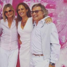 Hedi Grager, Christina Dow und Walter Polz - pink&white Event am Gut Pössnitzberg (Foto Reinhard Sudy))