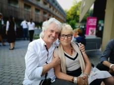Sommerfest OBEGG - Best of Südsteiermark und LOISIUM - Autor Reinhard Sudy mit Mama von Adi Weiss (Foto privat)