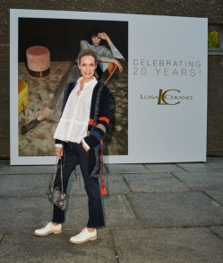 BERLIN, GERMANY - JULY 03: Lisa Martinek attends the 20 years event of Luisa Cerano at Koenig Gallery on July 3, 2018 in Berlin, Germany. (Photo by Robert Schlesinger/Getty Images for Luisa Cerano)