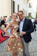 Eva Poleschinski mit dem Hartberger Bürgermeister Ing. Marcus Martschitsch (Foto Rene Strasser)