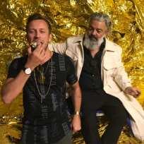 Künstler Alessandro Painsi mit dem erfolgreichen steirischen Galeristen Rudolf Budja (Foto privat)