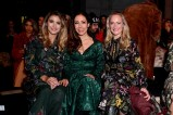 BERLIN, GERMANY - JANUARY 16: Fiona Erdmann, Anastasia Zampounidis and Eva Mona Rodekirchen attend the Lena Hoschek show during the Berlin Fashion Week Autumn/Winter 2019 at ewerk on January 16, 2019 in Berlin, Germany. (Photo by Matthias Nareyek/Getty Images for Lena Hoschek)