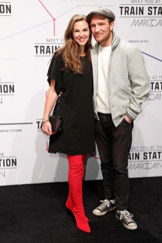Annika Lau and Frederick Lau during the Marc Cain Fashion Show Autumn/Winter 2019 at Deutsche Telekom's representative office (Photo by Franziska Krug/Getty Images for Marc Cain)