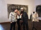 Ausstellung in der Rudolf Budja Galerie Salzburg - Rudolf Painsi mit seiner charmanten Mama und mit Designer Kristoffer Simonsen (Foto Hedi Grager