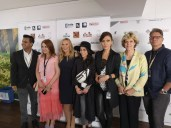 Global Film Showcase during Cannes Film Festival 2019 - Gotham Chandna, Nicole Muj, Allison Melody, Dena Rassam, Katya Mtsitouridze and Eileen Tasca (Photo Hedi Grager)