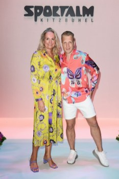 BERLIN, GERMANY - JULY 03: Oliver Pocher and Ulli Ehrlich at the Sportalm Kitzbuehel show during the Berlin Fashion Week Spring/Summer 2020 at ewerk on July 03, 2019 in Berlin, Germany. (Photo by Matthias Nareyek/Getty Images for Sportalm)