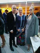 CINÉMOI 'STARS UNITED FOR GOOD' GALA in Cannes - Ashlee Simpson, Susanne Baumann-Cox and Evan Ross (Photo Hedi Grager)