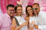 """""""PINK & WHITE - Bubble Night"""" am Gut Pössnitzberg in Leutschach - David und Daniela Fallmann sowie Alexander und Alexandra Kindermann (Foto Gut Pössnitzberg/Apresvino)"""