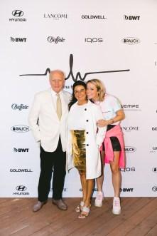 Marina Hoermanseder Show während der Berlin Fashion Week - Wilhelm Fabinenne und Marina Hoermanseder (Foto Paul Aden Perry)