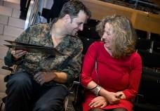 Schauspieler Philipp Hochmair mit Greith-Haus-Chefin Isabella Holzmann (Foto Ulrike Rauch)