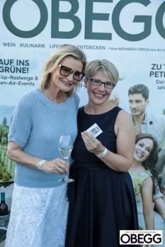 LOISIUM meets OBEGG Schlossbergfest im LOISIUM Wine&Spa Resort in Ehrenhausen - die Journalistinnen Hedi Grager und Brigitte Gady (Foto Simon Fortmüller)