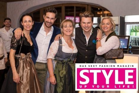 STYLE UP YOUR LIFE! Styling Lounge während der legendären Weißwurstparty im Bio-Hotel Stanglwirt (Foto Simon Fortmüller)
