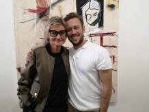 Ausstellung des Künstlers Alessandro Painsi in Los Angeles. Journalistin Hedi Grager und Alessandro Painsi. (Photo Reinhard Sudy)