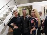 Ausstellung des Künstlers Alessandro Painsi in Los Angeles. Anne Avramut, Medi EM und Dustin Quick (Photo Reinhard Sudy)