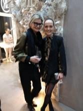VIP-Eröffnung des Real Beauty Vienna Schönheitssalons: Journalistin Hedi Grager und Designerin Eva Poleschinski (Foto Andreas Tischler)