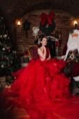 Weihnachts-Shooting Eva Poleschinski @The Christmas Salon Vienna. (Foto Doris Himmelbauer)