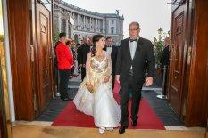 """Am 12.10.2019 wurde im Rahmen der 'Flame of Peace'-Gala in der Wiener Hofburg Fürst Albert II. von Monaco mit der """"Flame of Peace"""" geehrt. (Foto Andreas Lepsi/Robin Consult)"""