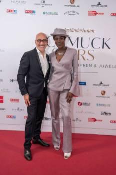 Schmuckstars Awards 2021 im Hotel Andaz am Belvedere, Doretta CARTER, Maruizio GIAMBRA. (Foto Andreas Tischler)