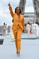 "Aja Naomi King - ""Le Defile L'Oreal Paris 2021"". (Photo by Pascal Le Segretain/Getty Images For L'Oreal)"