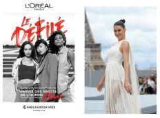 "LOrealParis_LeDefile_2021. Rebecca Mir - ""Le Defile L'Oreal Paris 2021"". (Photo by Pascal Le Segretain/Getty Images For L'Oreal)"