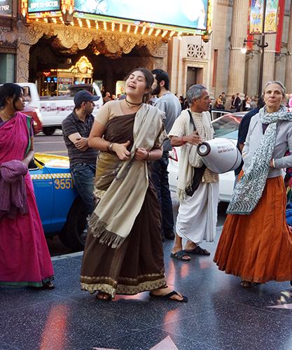 Los Angeles Hollywood Blvd - Adeptes Hare Krishna
