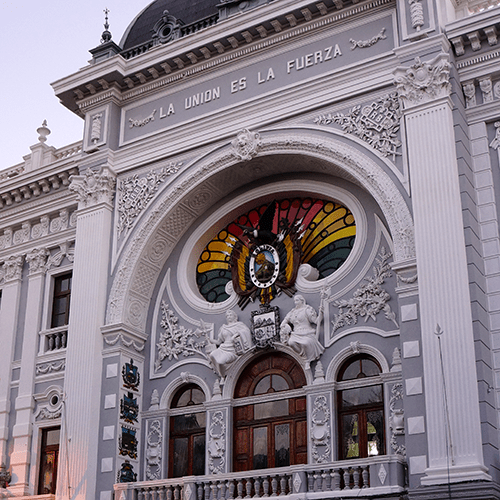 Bolivie Sucre - Palacio de Gobierno - Prefecture