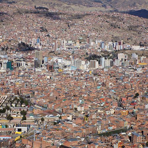 LaPaz Bolivie / Vue depuis El Alto