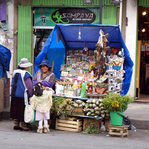 La Paz Bolivie / Marché Aux Sorcières
