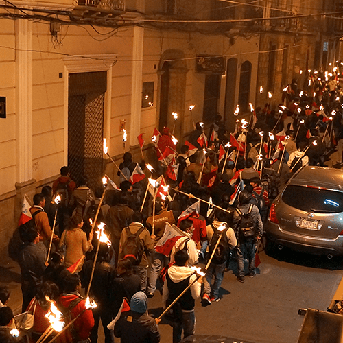 Sucre Bolivie - Manifestation étudiante
