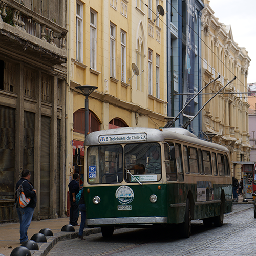 Chili- Valparaiso / El plan - Trolleybus