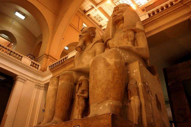 Musée égyptien du Caire - Amenhotep III et la Reine Tiye