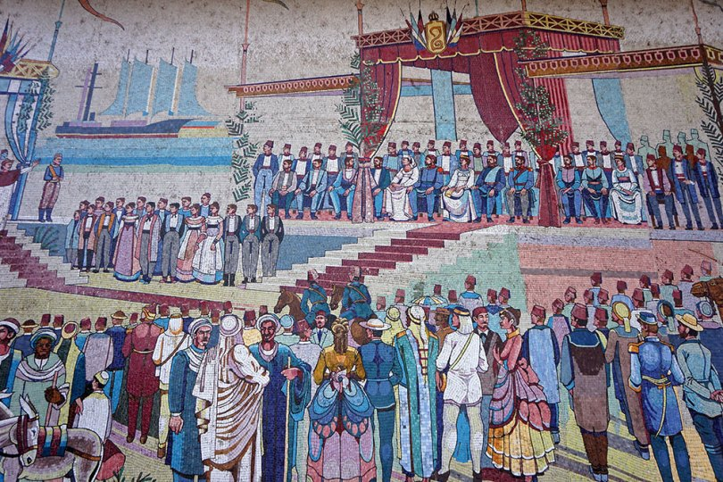 Isamailia - Monument commémorant l'inauguration du canal de Suez en 1869.