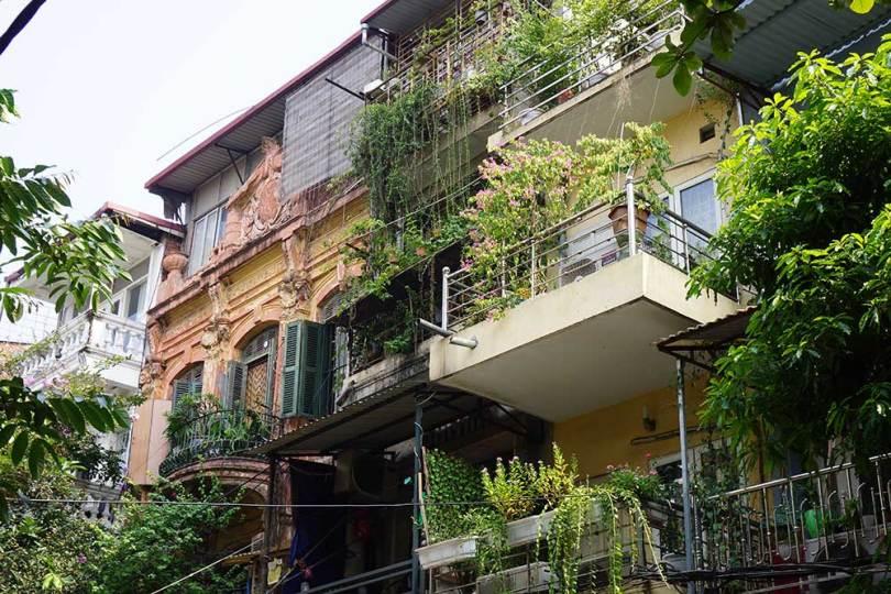 Hanoï - Vieux Quartier Hoan Kiem - Maisons Tubes