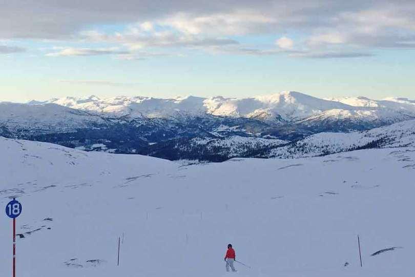 Norvège - Piste de ski Voss