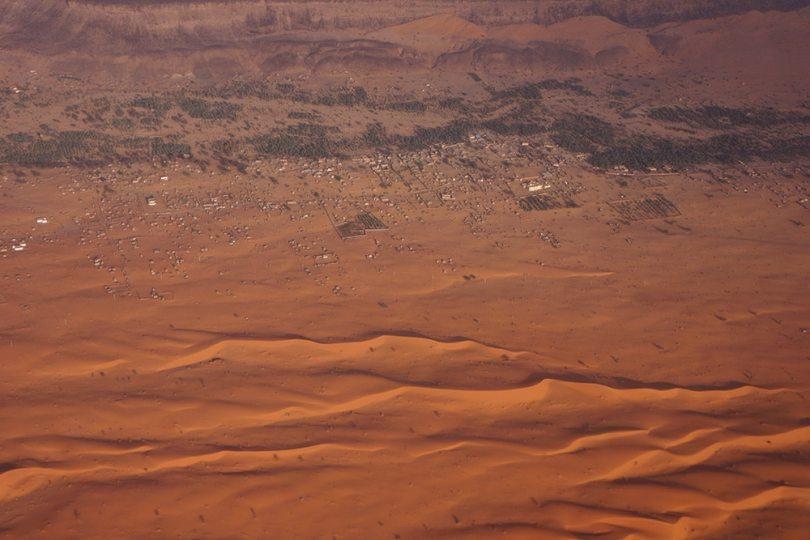 Adrar - Atar vue d'avion