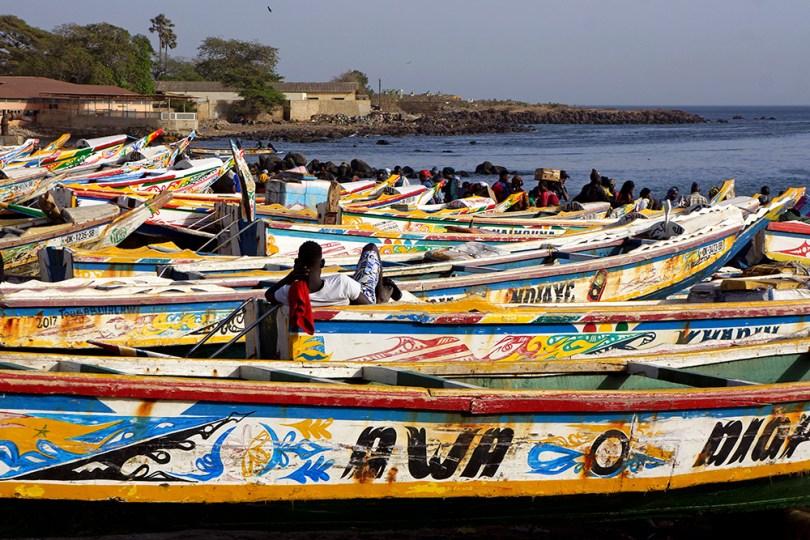 Dakar - Retour de la pêche à Soumbedioune