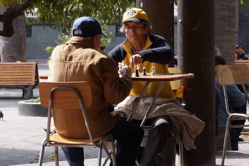 Chili - Santiago - Joueurs d'échecs
