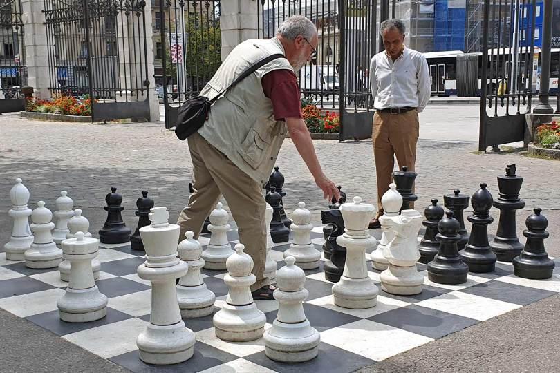 Suisse - Genève - Joueurs d'échecs