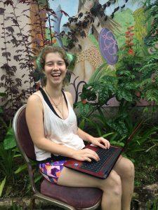 Ecofeminist Intern female traveler in Hawaii