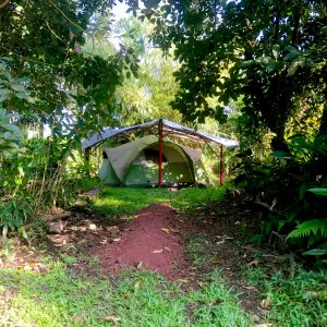 tent camping hawaii single bed big island campground