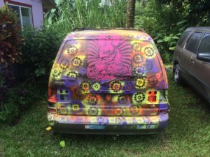 The Hippie Van when closed!
