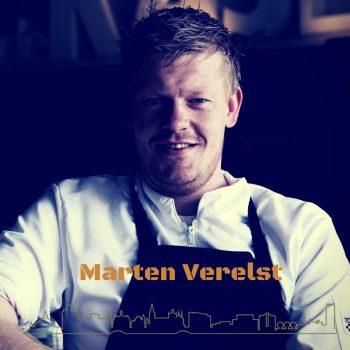 Marten Vereist maakte de verse kaas met rode bes kombucha, doperwtjes en noordzee zeewier