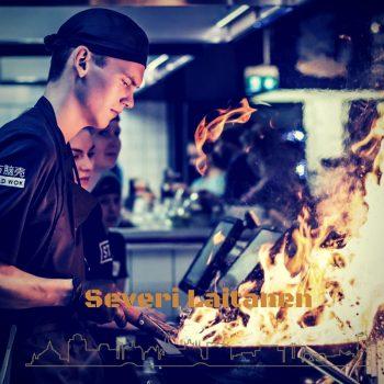 Severi Laitanen uit Finland maakte damhert-lever met berkenhout en rook