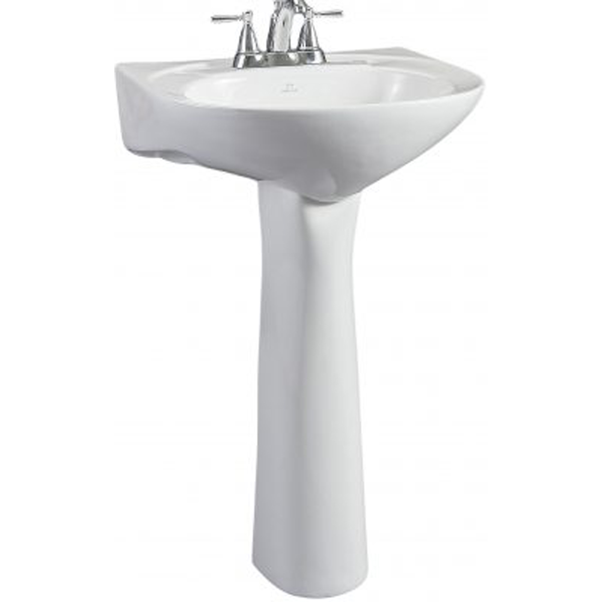 briggs altima white pedestal sink 4 center holes