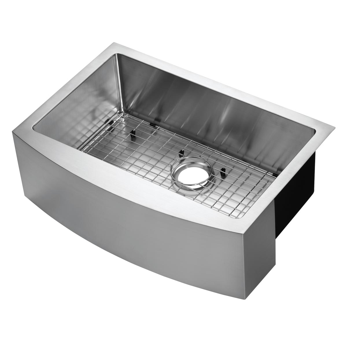 30 x 21 stainless steel farm sink curved apron front
