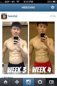 week 3 and 4, intermittent fasting, heechai.com, fitness blogger singapore, fat lost