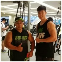 Training with harun brunei legend at fitness first paragon