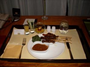 Conrad Centennial Singapore Room Service Satay