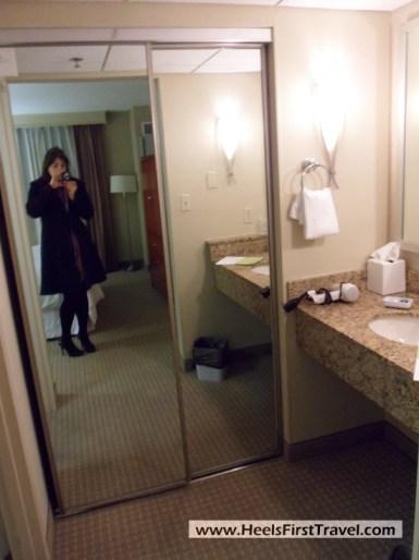 Four Points Charlotte Suite Bathroom Closet