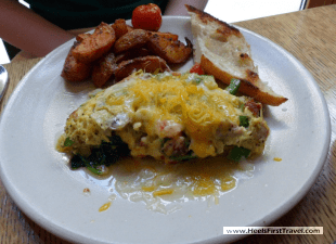 Andaz Napa omelette with spicy potatoes